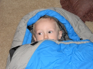 Loving the sleeping bag, still.