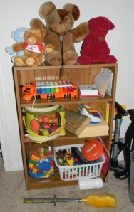Most of the toys. This is the 3 ft bookshelf.