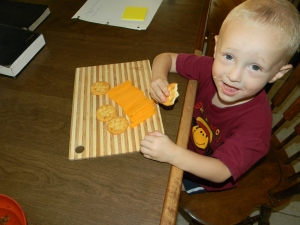cheese and crackers... yummy!