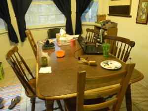 Why can I not keep my dining room table cleared off?
